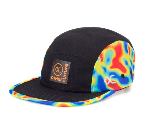Other Culture bone preto Five Panel - Heat Map Black