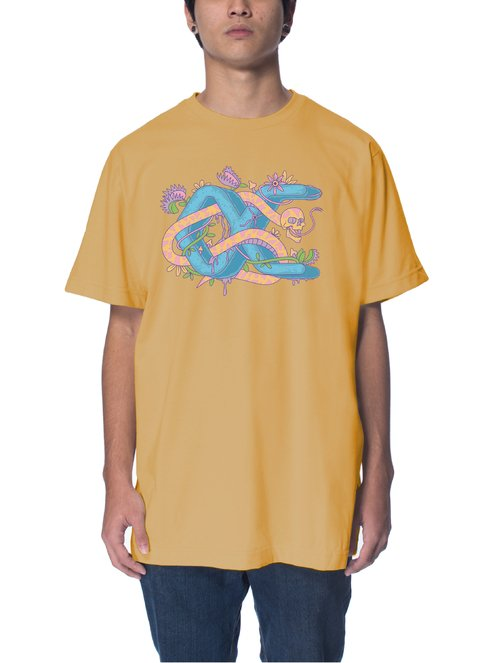 Other Culture camiseta - Snake Amarelo