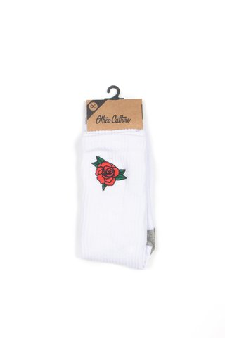 OTHER CULTURE MEIA CANO ALTO BRANCA - ROSES WHITE