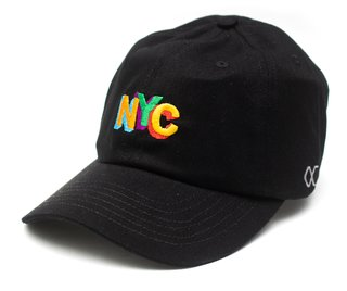 Other Culture bone aba curva preto Dad Hat - NYC color full black