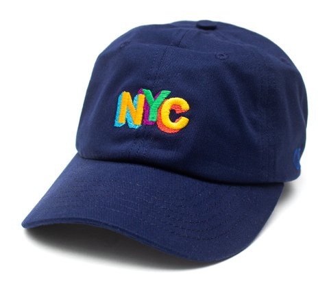 Other Culture bone aba curva Dad Hat - NYC color full Navy