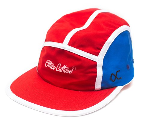 Other Culture bone five panel vermelho e azul - Featured