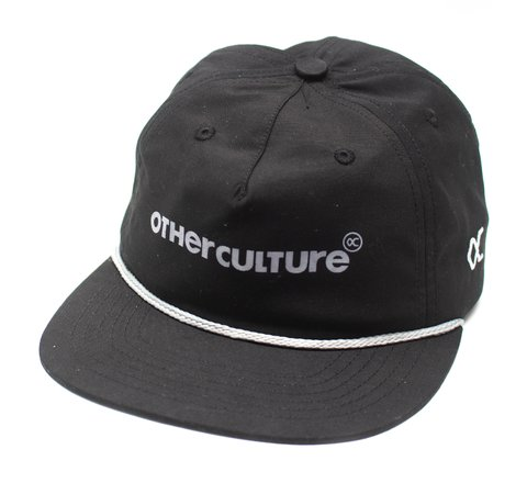 Other Culture bone aba reta desestruturado preto - Logo black