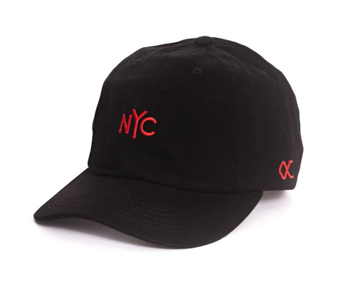 Other Culture bone aba curva preto Dad Hat - NYC CLASSIC MINI LOGO