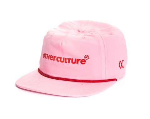 BONE OTHER CULTURE 6PANEL ABA RETA - LOGO PINK