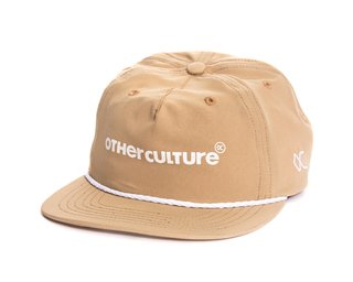 BONE OTHER CULTURE 6PANEL ABA RETA - LOGO KHAKI
