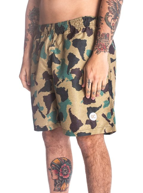 Other Culture Shorts - Logo Camo Green