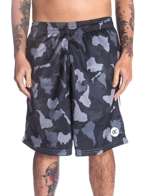 Other Culture Shorts - Logo  Camo Black