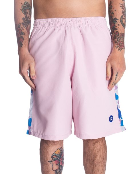 Other Culture Shorts - Logo Stripe Camo Pink
