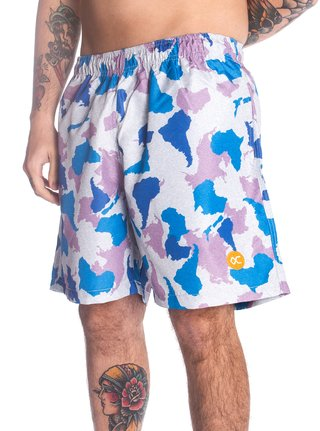 Other Culture Shorts - Logo Camo Pink - comprar online