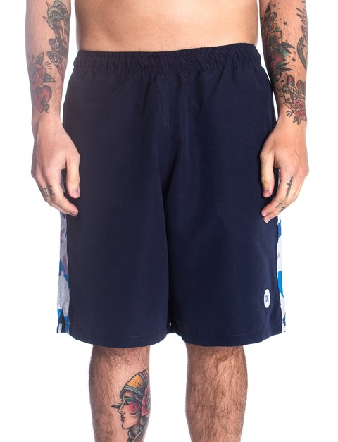 Other Culture Shorts - Logo Stripe Camo Navy