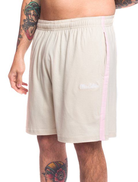 Other Culture Shorts - OC Signature Strip Khaki Pink