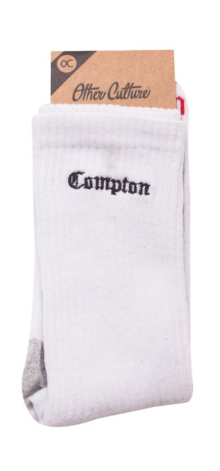 OTHER CULTURE MEIA - OC COMPTON SOCK WHITE