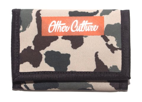 OTHER CULTURE CARTEIRA COM VELCRO - LABEL LOGO CAMO