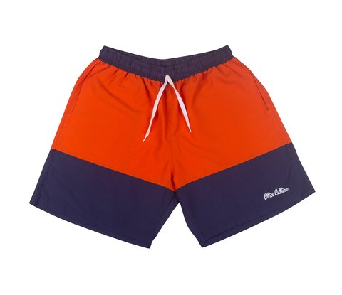 Other Culture Shorts - Double Signature Orange Blue