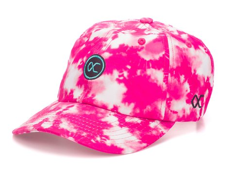 Other Culture bone Dad Hat aba curva - Logo Tie Dye Pink Fluor