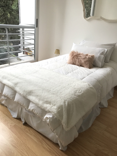 Pie de cama ultra soft blanco