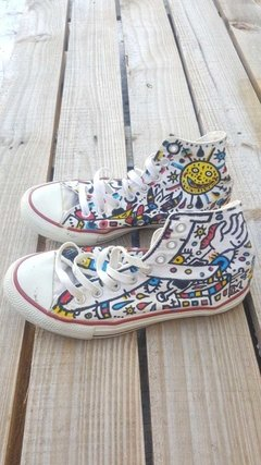 Zapatillas All Starts Customized - Freaky Bird Vintage