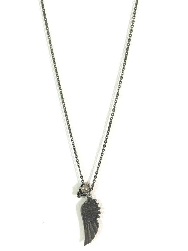 Long necklace with skull and metal handle - buy online