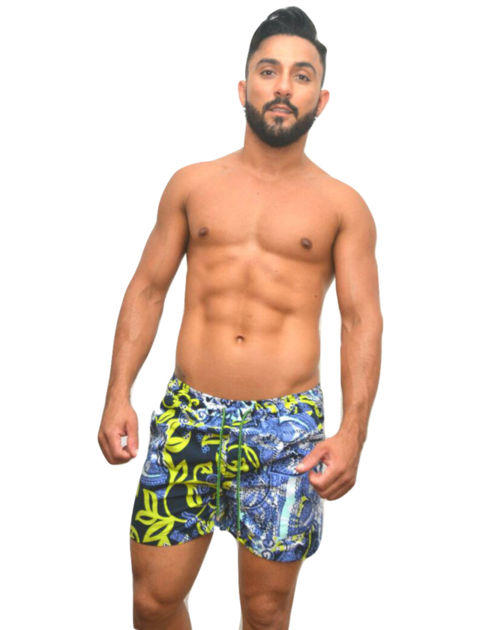 Short de tactel estampado azul