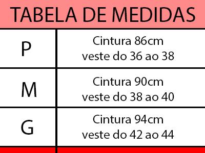Tabela de medidas | W. Paiva designer