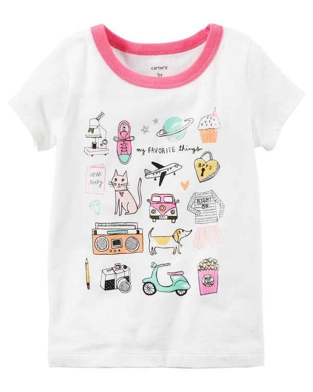 REMERA MANGAS CORAS FAVORITE THINGS