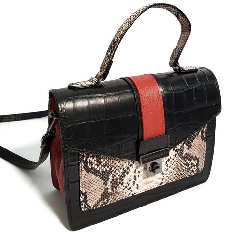 Bolsa Tiracolo Croco Animal Print