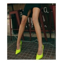 Stiletto High Verde Lima FLUO