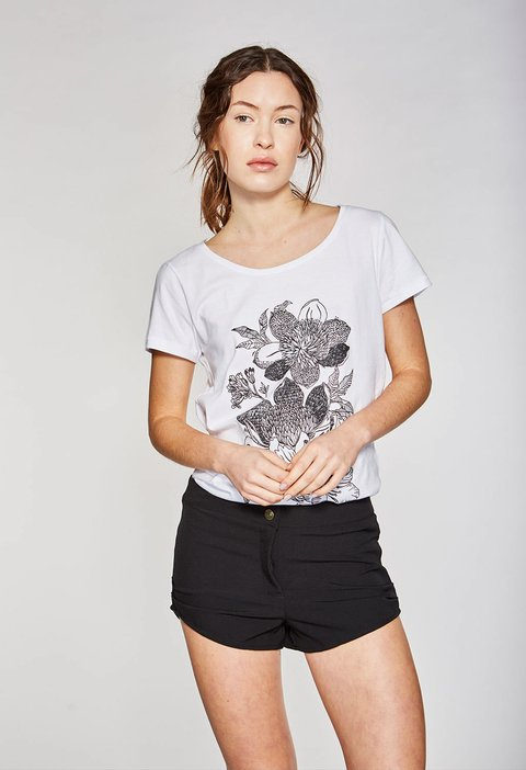 REMERA DARK FLOWER