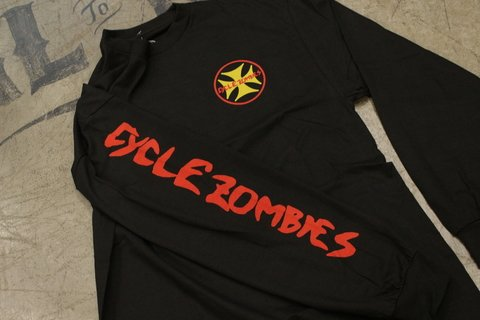 Cycle Zombies - STANDARD PREMIUM LONG SLEEVE T-SHIRT Preta - comprar online