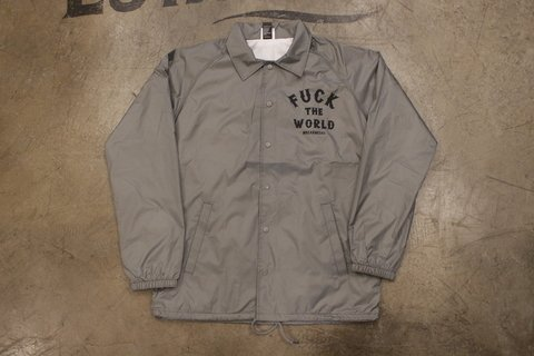 Breaknecks - Jaqueta Windbreaker Fuck The World Cinza - comprar online