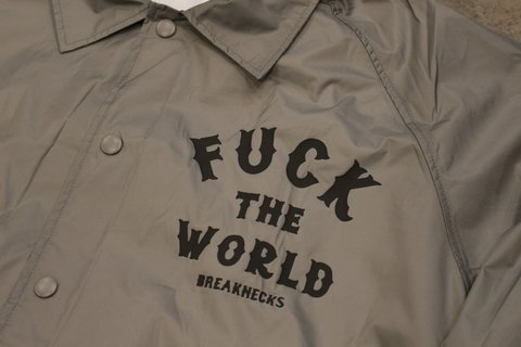 Breaknecks - Jaqueta Windbreaker Fuck The World Cinza