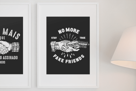 Poster No More Fake Friends - comprar online