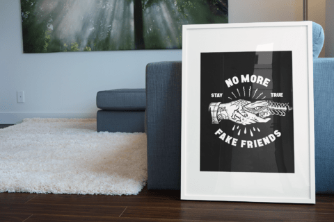 Poster No More Fake Friends - Breaknecks