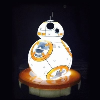 Lampara Bb - 8 Rc Robot Animado Figura Modelo Led - Mix As