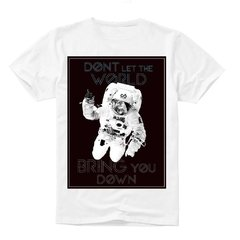 "Camiseta ""Don't Let The World Bring You Down"" - Calabas"