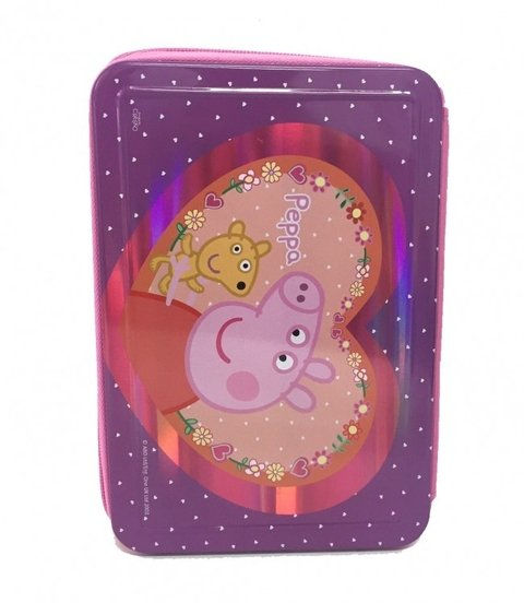 CARTUCHERA PEPPA PIG 2 PISOS