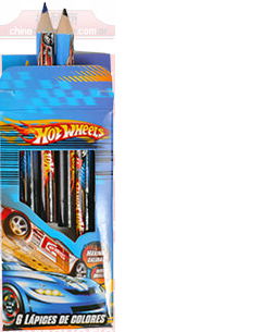 LAPICES X6 HOT WHEELS CORTOS