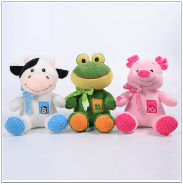 PELUCHES DE ANIMALITOS CON MOÑOS