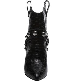 Ankle Boot Rock Westrn Croco Black - SCHUTZ
