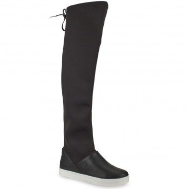Bota Over The Knee Strech Preto - PETITE JOLIE