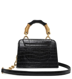 Bolsa Crossbody Believe Brigth Croco Black - SCHUTZ