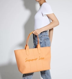 BOLSA SHOPPING BAG CONNIE TANGERINE