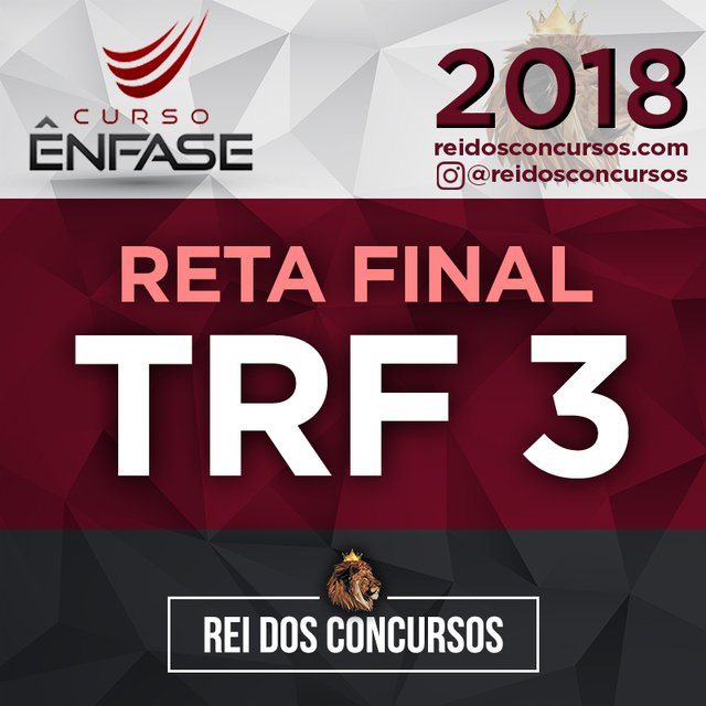 TRF 3 - Reta Final -  Juiz Federal do Tribunal Regional Federal da 3ª Região [2018] na internet