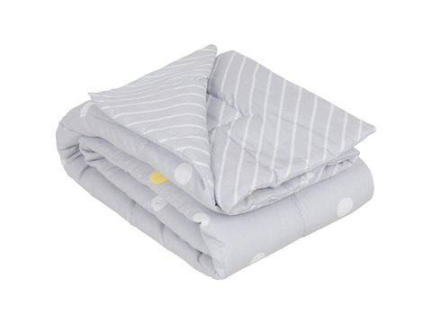 Edredom Mini Cama/Junior Bolota Cinza