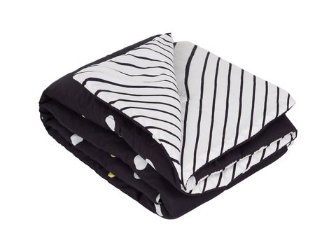 Edredom Mini Cama/Junior Bolota P&B