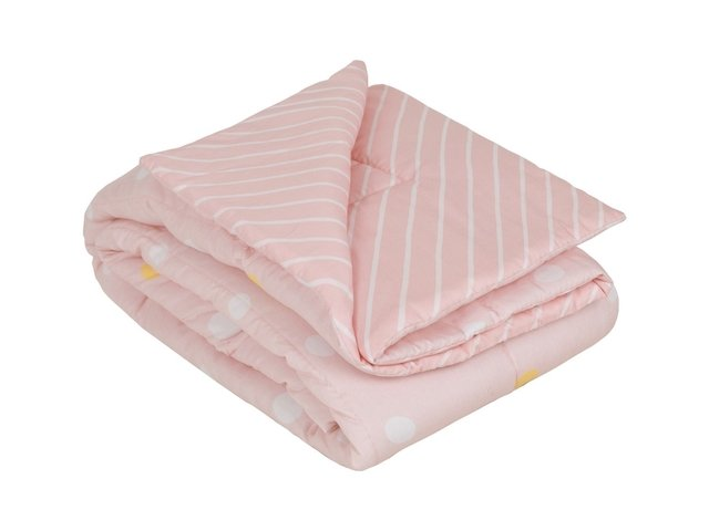 Edredom Mini Cama/Junior Bolota Rosa