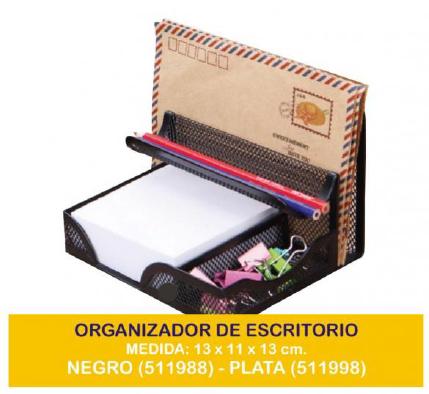 ORGANIZADOR DE ESCRITORIO METAL P/SOBRES Mod. 449/8