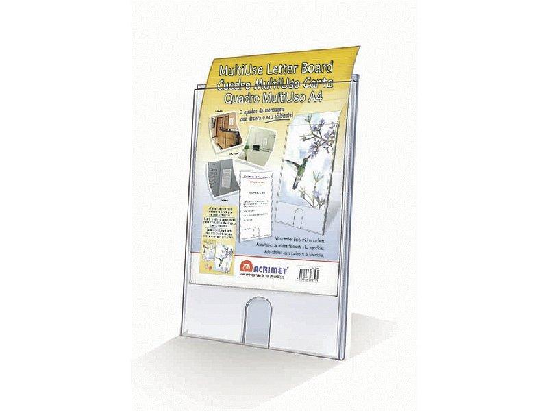 ORGANIZADOR EXPOSITOR PLASTICO ACRIMET 865 CUADRO A4 CON BASE