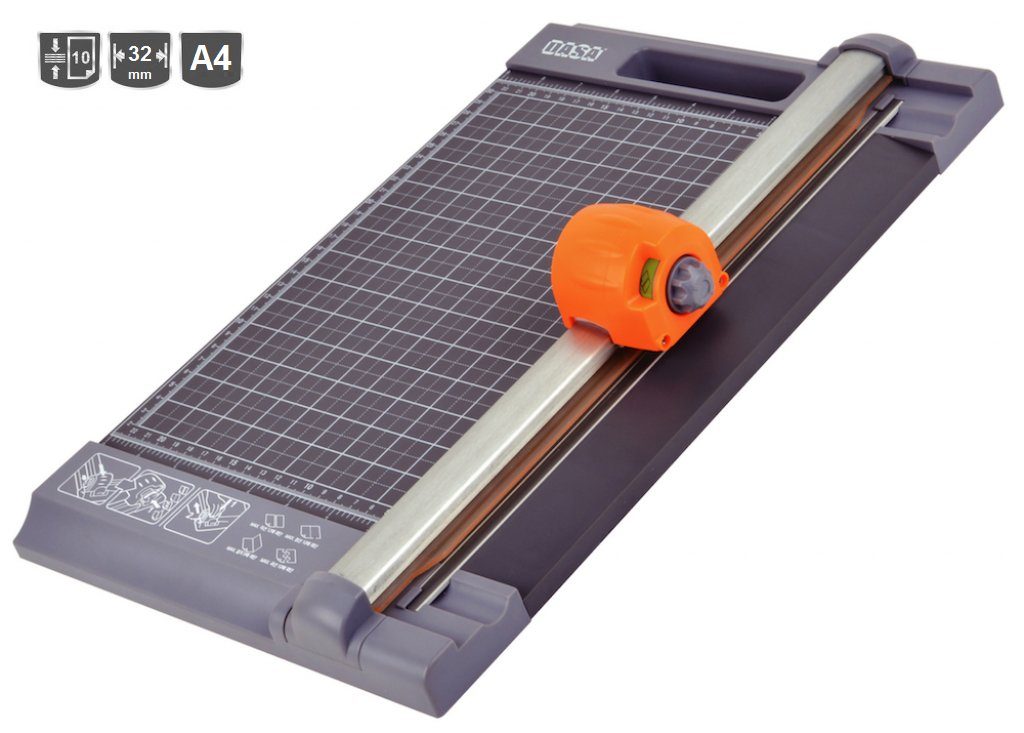 CIZALLA ROTATIVA DASA DX1 4 en 1 A4 - 32 cm Corte/Troquel/Ondas/Plegado